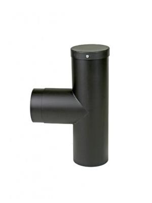 2mm kachelpijp t-stuk 90 graden met deksel