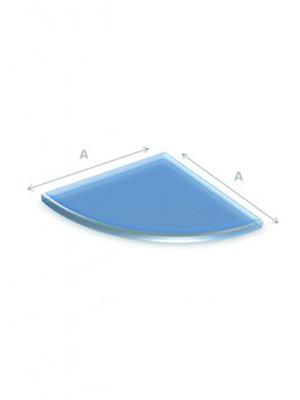 glazen vloerplaat kwartrond